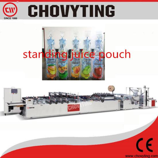 China Plastic Self Standing Juice Pouch Making Machine - China 3