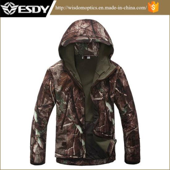 e1018692717c2 Men Outdoor Hunting Jacket Hoodie Camping Waterproof Coats pictures & photos