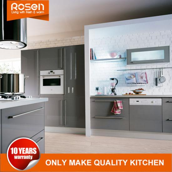 Staining Sliver Laminate Kitchen Cabinet HPL Hot Sale