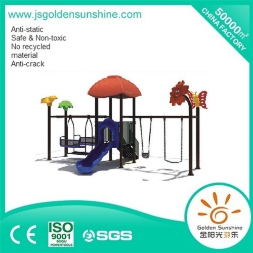 Children's Outdoor Swing with Slide Playground Equipment with CE/ISO Certificate