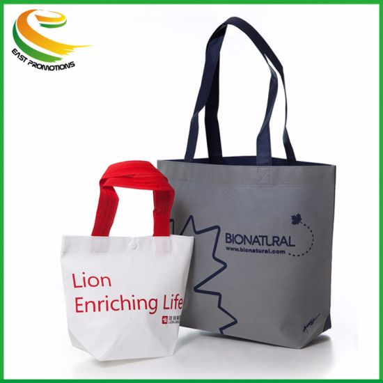 Custom Print Advertising PP Non Woven Promotional Tote Bag pictures & photos