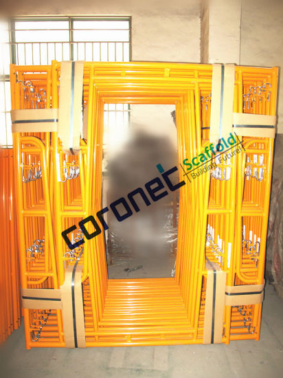 ANSI Certified Powder Coated Walk Thru Frame Scaffold with Fast Lock (CSWT564FL) pictures & photos