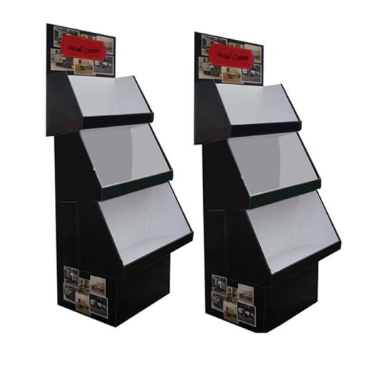 Paper Material Corrugated Cardboard Floor Display Stand