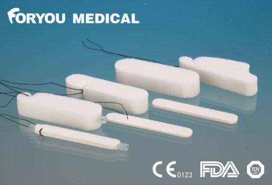 Foryou Medical Suntouch Hemostatic Nose Tampon Merocele Epistaxis Medical PVA Sponge Nasal Dressing String pictures & photos