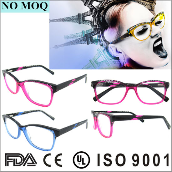China Crazy Eyeglasses Fashion Design Girls Bright Color Acetate ...