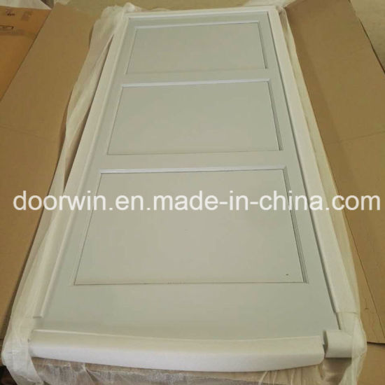 White Color American Barn Door Pine Wooden Retractable Interior Doors With Hradware
