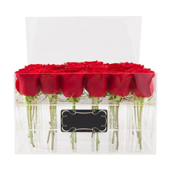 Clear Plastic Acrylic Packaging Boxes for Roses Flow Packaging