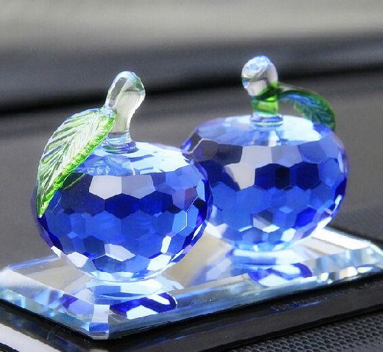 Beautiful K9 Material Crystal Apple Model