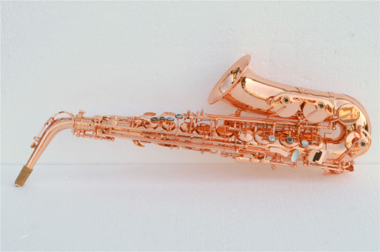Sale Alto Saxophone, Red Copper Material, Pisoni Pads pictures & photos