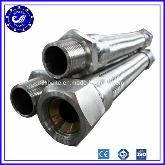 Stainless Steel Pump Connector with BSPT Hex Male Ends