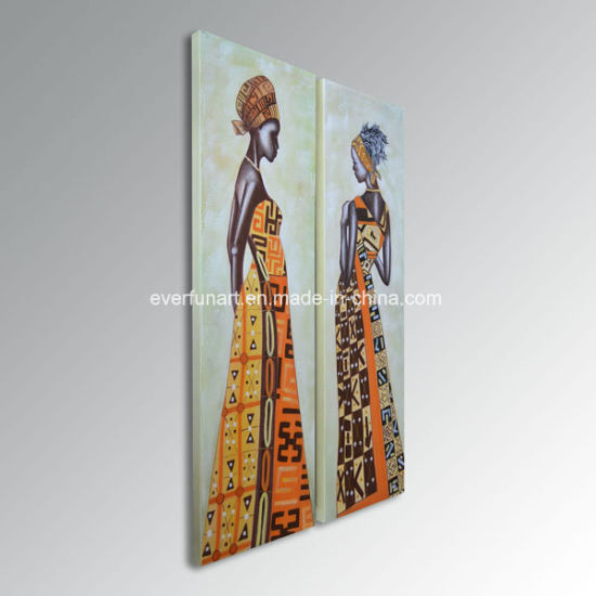Wear National Characteristics Modern African Woman Canvas Oil Painting Really Amazing pictures & photos