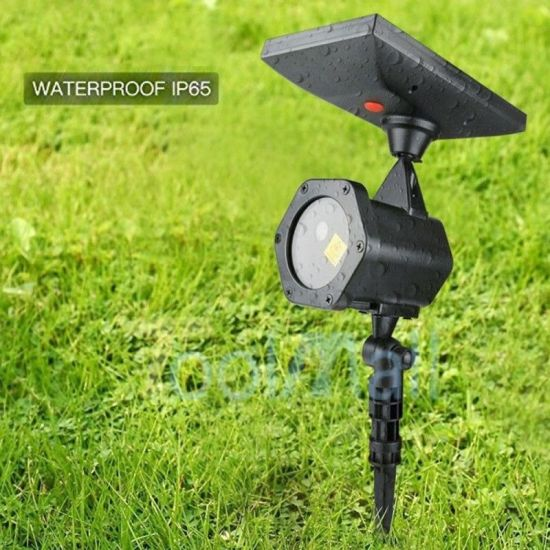 ABS Outdoor Solar Laser Light LED Indoor Disco KTV Outdoor Fairy Garden Christmas Laser
