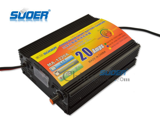 Suoer Factory Price Universal Car Battery Charger 20A 12V Battery Charger (MA-1220A) pictures & photos