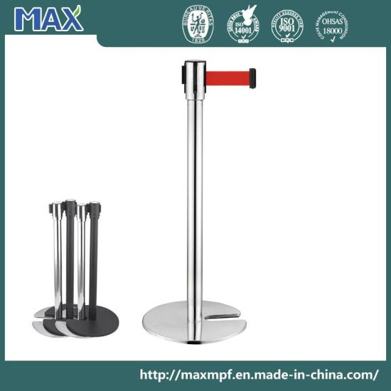 Heavy Duty Cast Iron U Sharp Base Retractable Barrier