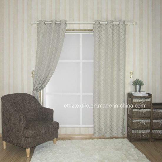 2017 Top Sell 100% Polyester Linen Touching Window Curtain pictures & photos