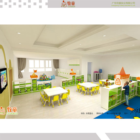 New Design High Quality Kids Creche Pre School Classroom Wooden Furniture Set