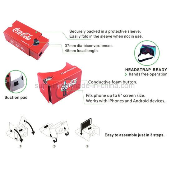 Promotional Virtual Reality 3D Google Cardboard Glasses Google Vr Headset pictures & photos