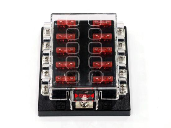 china 10 way standard circuit auto blade fuse box car truck fuse  10 way standard circuit auto blade fuse box car truck fuse holder