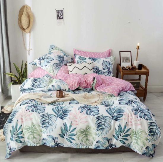 Made in China Wholesale Market Cheap Microfiber Duvet Cover Bedsheet Bedding Set pictures & photos