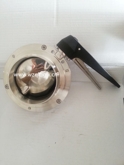 Food Grade Stainless Steel Weld Butterfly Valve pictures & photos