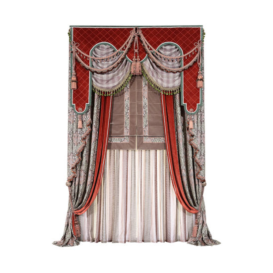 China Living Room Curtain American Style Pattern Curtain Sets ...