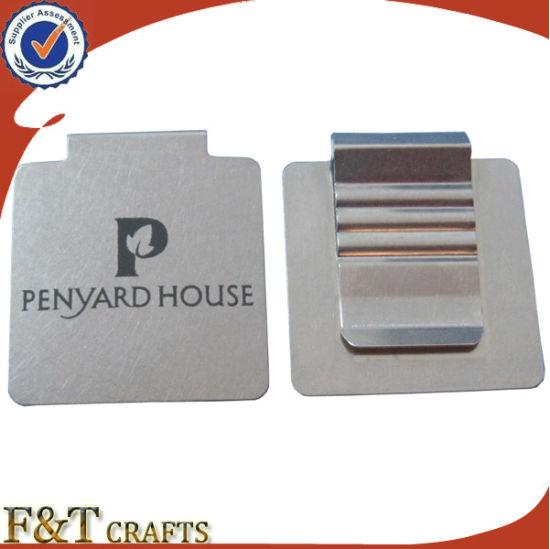 Cheap Blank Custom Square Shaped Flat Metal Paper Clip