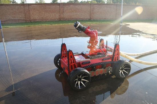 Large Petrochemical Areas Oil Tank Area Large Use Firefighting Robot