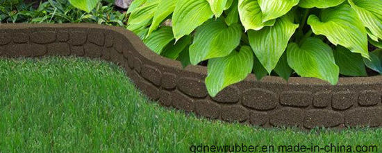China Recycled Rubber Lawn Edging Border Bricks Mower Walk on Garden