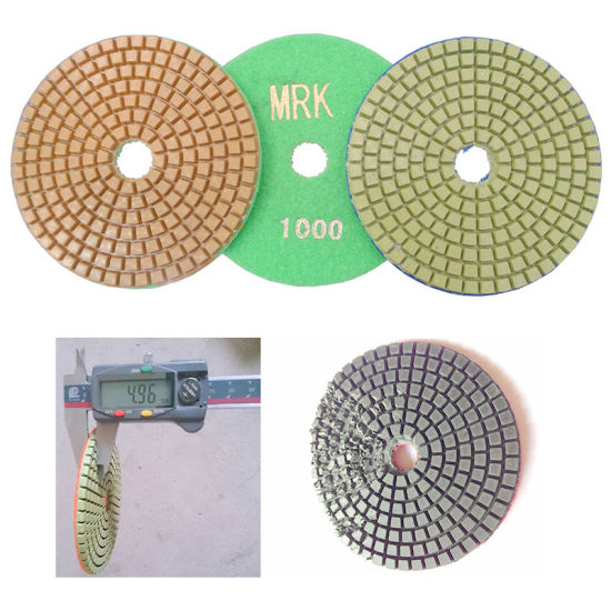 4 Inch Wet Polishing Pad for Marble Floor Polishing R-0 pictures & photos