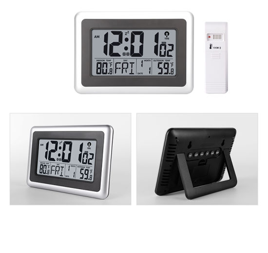 China Atomic Wall Clock With Indoor, Best Atomic Clock With Indoor Outdoor Temperature