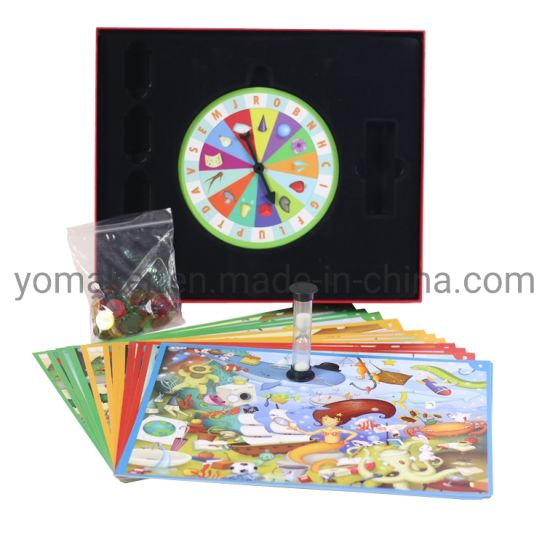 Cardboard Board Game Set for Children Customized with Spinner and Game Pieces