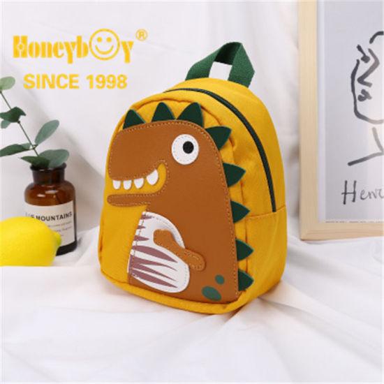 Yellow Wholesale Neoprene Schoolbag Custom Animation Cute Kidscartoon Backpack Children Bag