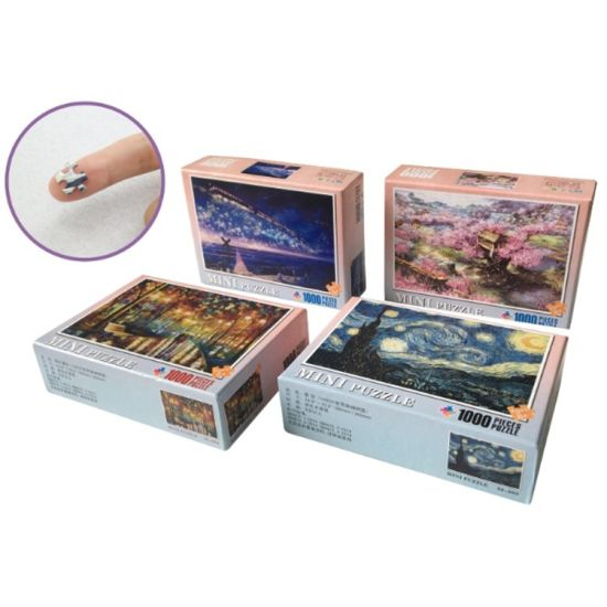 1000 Piece Mini Puzzle Little Piece Jigsaw Puzzle for Adults Wholesale Puzzle Game Educations Toys in Stock and Accept Customized
