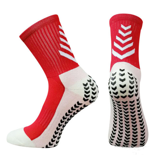 11 Colors Non Slip with Grips Sports Football Terry Crew Man Socks