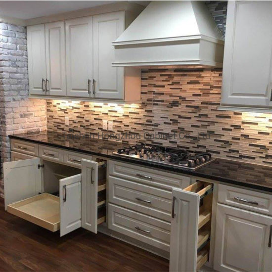 China Apartment Size Soft Close Hinges Kitchen Cabinet Door China Raised Panel Kitchen Cabinets Cream Wood Kitchen Cabinet