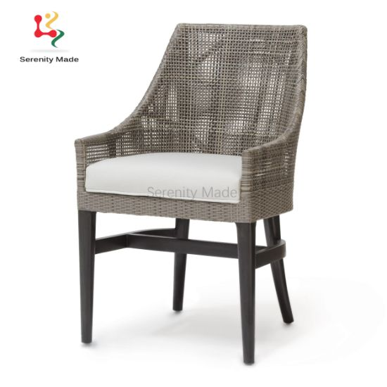 White Modern Desk Chair, China Aluminum Frame Synthetic Rattan Woven Counter Height Outdoor Bar Stools China Rattan Bar Stool Outdoor Bar Stool