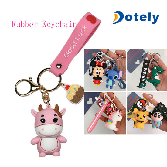 Anime Key Chaiin Pendant PVC Silicone Keyholder for Decoration Gifts