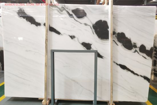Chinese Polished Natural Slabs High Quality Panda White Marble for Interior Wall Floor Tiles Stairs Decoration