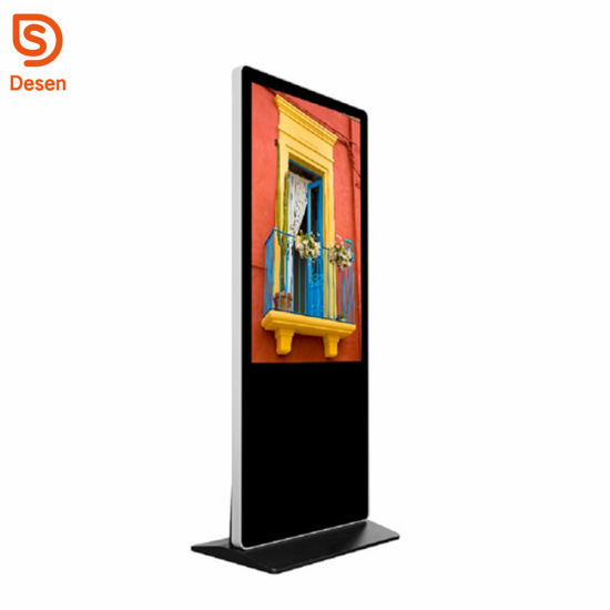 Floor Standing LED Advertising Display Portable Advertising Screen Ad Player 43′′; Digital Signage Media Player pictures & photos