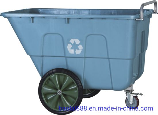 Recycling Tilt Truck with 1/2 Cubic Yard 750 Lbs Load Capacity with 15 Inch Wheels