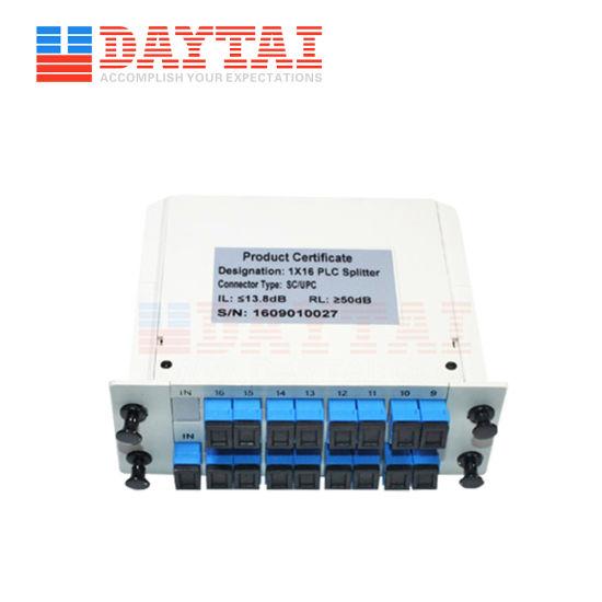 Casette Type PLC 1X16/1*16 Fiber Optic PLC Splitter