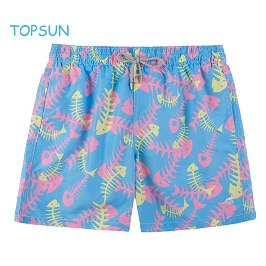 Custom Quick Dry Colorful 100% Polyester Beach Short Pants Man Outdoor Sport Swim Shorts