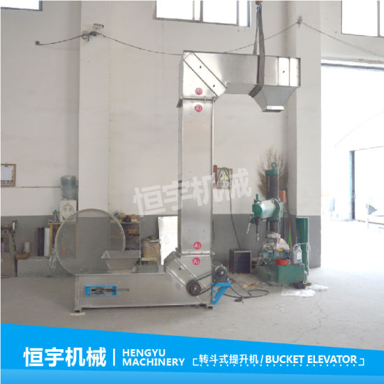 Automatically Rice/Frozen Foods/Snack/Solid Food Chain Bucket Elevator for Packing Line