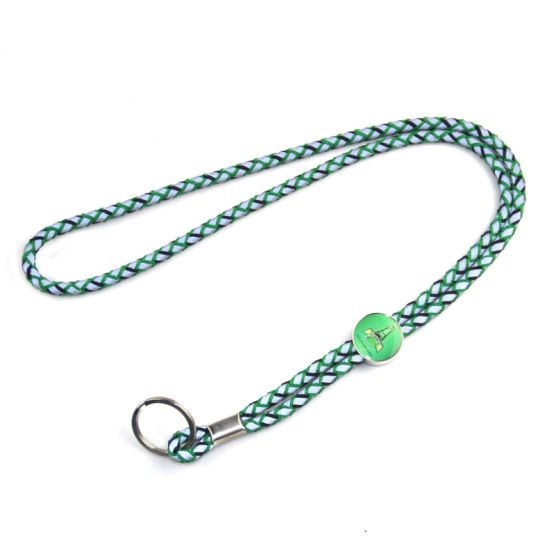 Wholesale Custom Cord Round Polyester Lanyard with Ring