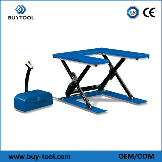 U Type Hydraulic Stationary Pallet Scissor Lift Table Ce Approved