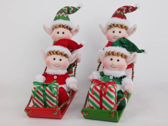 Plush Elf Christmas Decoration