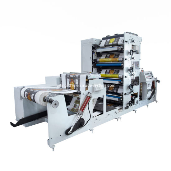 Rtry-850e Fully Automatic 5 Color UV LED PVC and Cold Foil Paper Flexographic Printing Machine Manufacturer