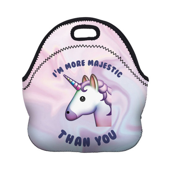 Lovely Unicorn Neoprene Lunch Tote Bag Insulated Lunch Bag