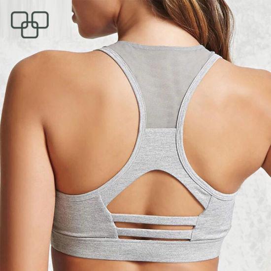 ed95a516d6c3 New Design Gym Underwear Full Support Sportswear Cotton Girls Sports Bras