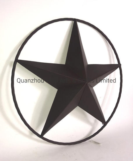 Star Metal Home Decor Rustic Sign Ring Circle Lone Wall Hanging